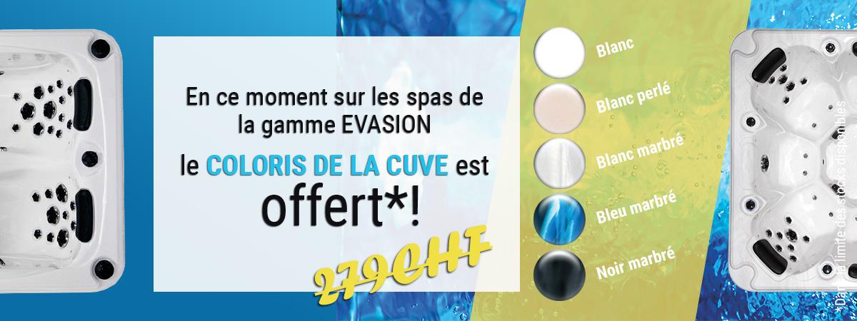 Coloris de al cuve offert sur la gamme Evasion