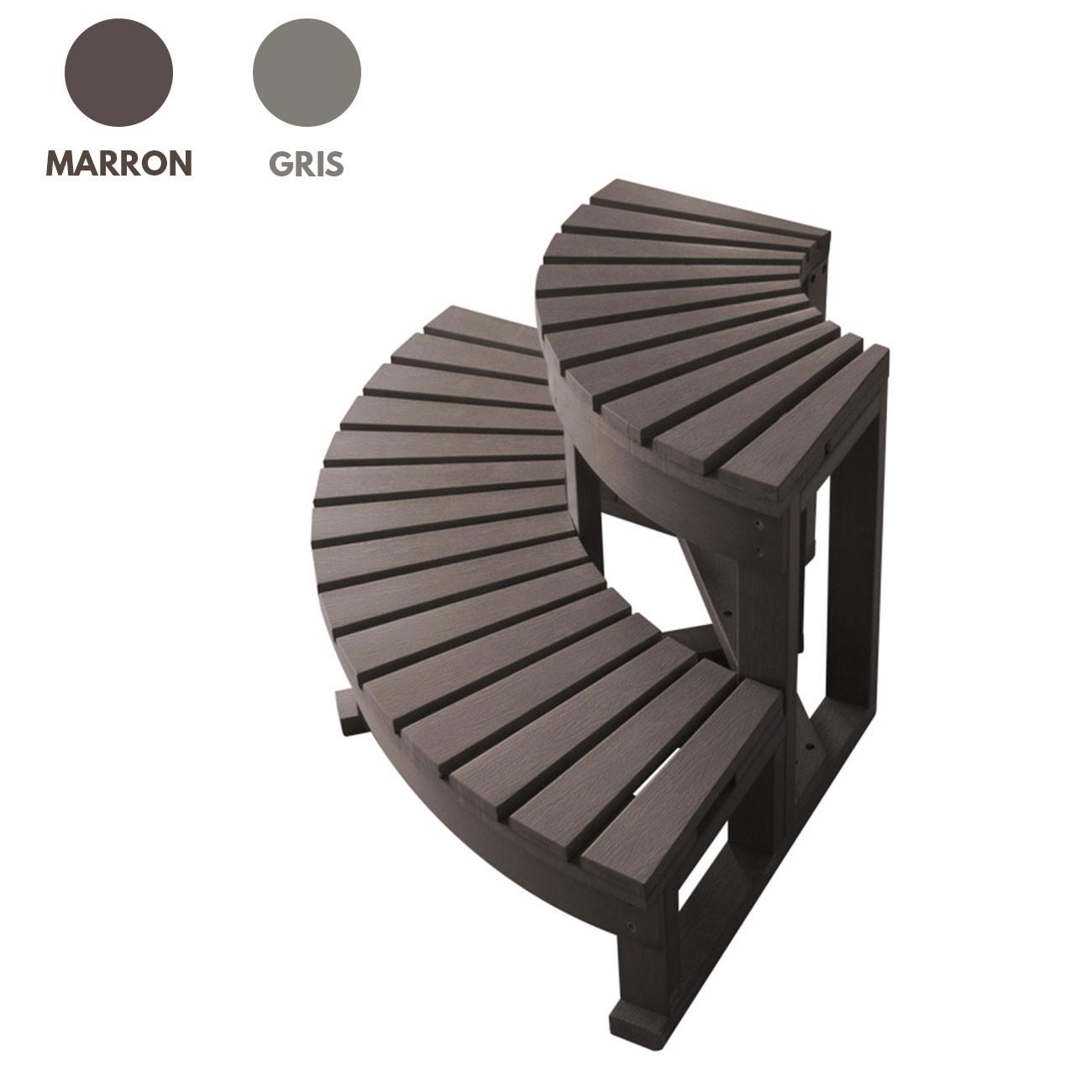 escalier d 39 angle 2 marches pour spa jacuzzi bain et confort. Black Bedroom Furniture Sets. Home Design Ideas