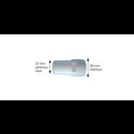 Adaptateur tuyauterie plastique cannelé 39 mm à visser 50 mm